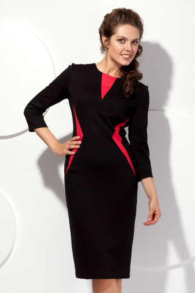 Платье с контрастными вставками П-442/3