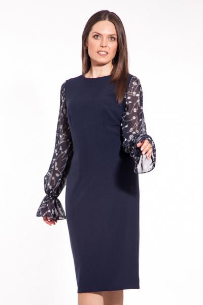 Платье с рукавами из шифона П-522/1